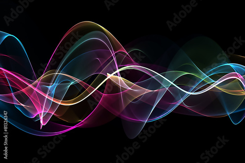 Staande foto Fractal waves abstract colorful background