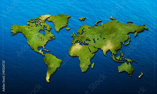 Realistic 3d World Map Buy This Stock Illustration And Explore