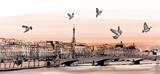 "Widok na Paryż z ""Pont des arts"" - 81329986"