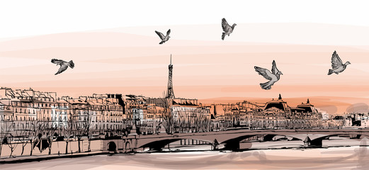 FototapetaView of Paris from