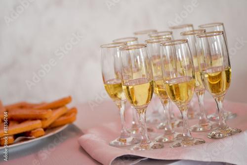 Filled champagne glasses Slika na platnu