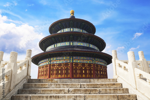 In de dag China Beijing Tiantan ancient architecture
