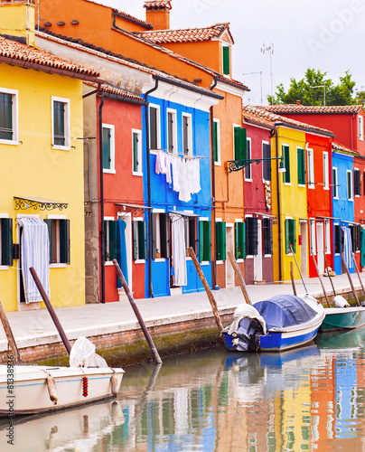 Fototapety, obrazy: Painted houses in Italy