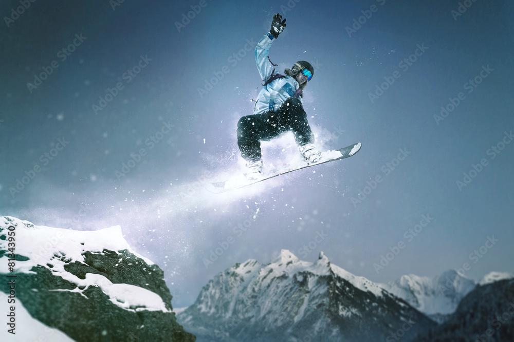3f778beadbe Photo   Art Print Snowboard Jump