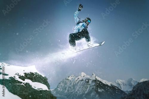 Snowboard Jump Poster