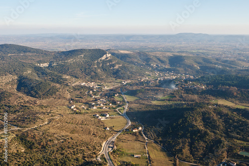 La vallée de St Ambroix vue du ciel Canvas Print