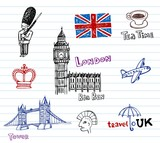 Fototapeta Londyn - London Doodles