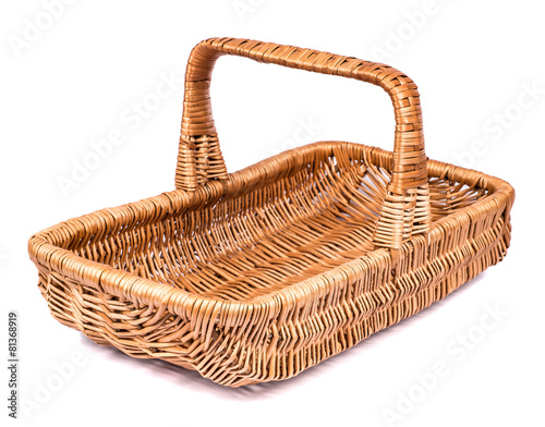 Ingelijste posters Picknick vintage weave wicker basket isolated on white background