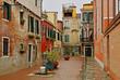 Venice, Italy, Courtyard in Misericordia area