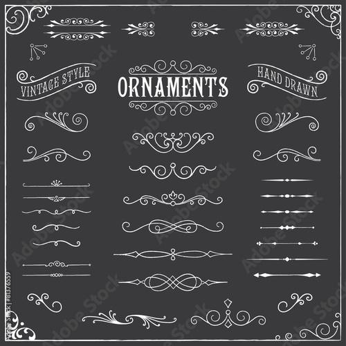 Fotografie, Obraz  Chalkboard Ornaments