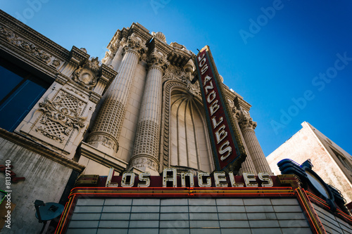 Photo Stands Los Angeles The Los Angeles Theater, in downtown Los Angeles, California.