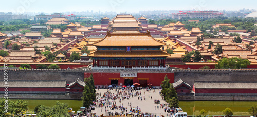 Foto op Aluminium Beijing North gate, Imperial Palace Museum fka Forbidden City, looking s