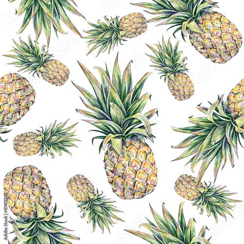 ananasy-na-bialym-tle