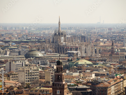 Photo Stands Egypt Milan aerial view
