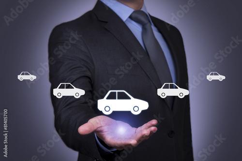 Car on Business Hand Slika na platnu