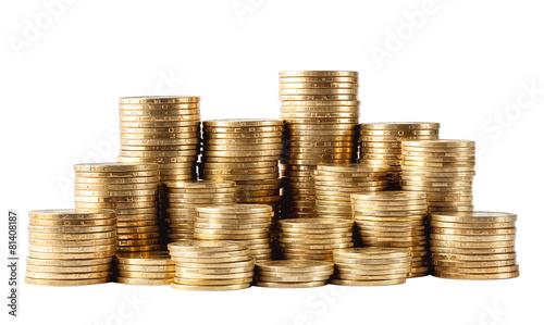 Fotografía  Column of golden coins