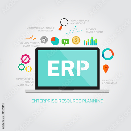 Fotografie, Obraz  erp enterprise resource planning