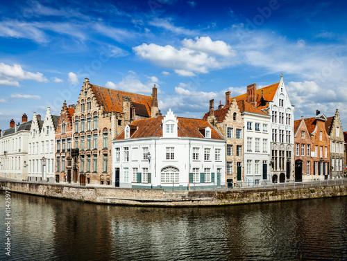 Wall Murals Bridges Bruges canals