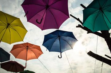 umbrella with sky