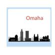 Omaha skyline linear style with in editable vector file
