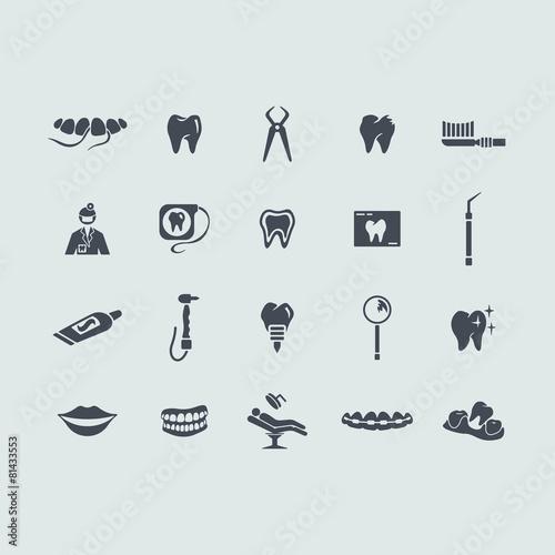 Fotografia  Set of stomatology icons