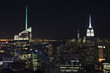 Manhattan skyline from the empire state building by night