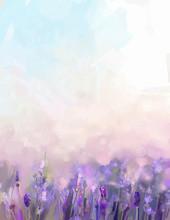 Oil Painting Lavender Flowers ...