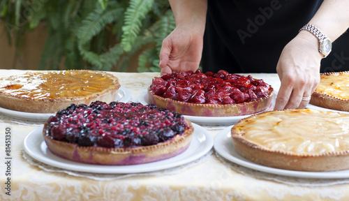 Foto op Canvas Bakkerij Torte di frutta