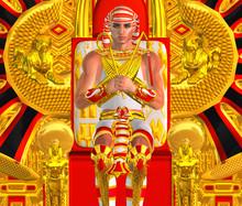 Egyptian Pharaoh Ramses Seated On Throne.