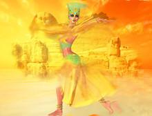 Egyptian Woman In Desert Sands...