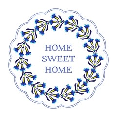 Obraz na PlexiHome sweet home decoration