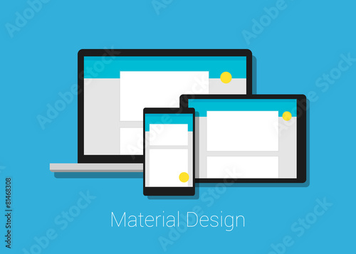 Fotografie, Obraz  material design responsive web interface layout