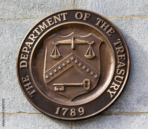 Present Seal Sign Symbol US Treasury Department Washington DC Wall mural