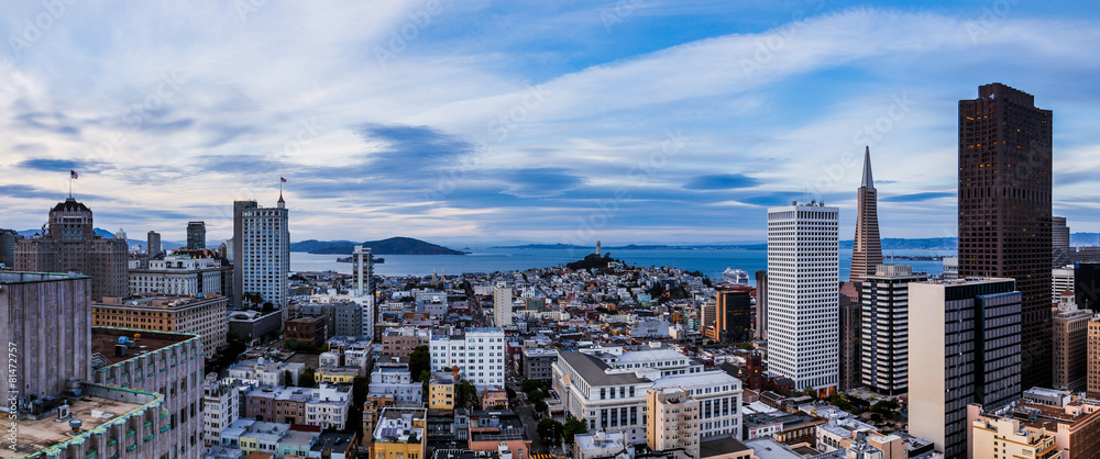 Fototapety, obrazy: Aerial view of San Francisco