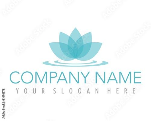 Photographie  flower lotus blue ornament logo image vector