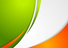 Corporate Wavy Abstract Background. Irish Colors
