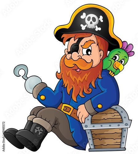 Foto op Canvas Piraten Sitting pirate theme image 1