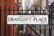 Draycott Place road sign in London, UK.