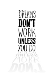 FototapetaMotivational vector with dream text