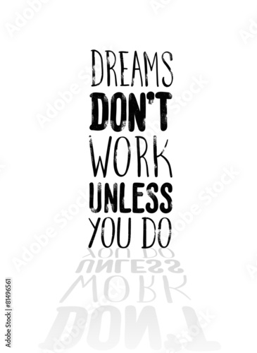 Fotografie, Obraz  Motivational vector with dream text