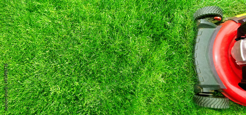 Photo sur Toile Herbe Lawn mower.
