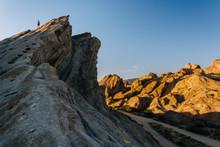 Evening Light On Rocks At Vasquez Rocks County Park, In Agua Dul