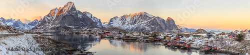 Fotobehang Scandinavië fishing towns in norway