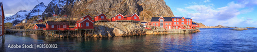 Spoed Foto op Canvas Scandinavië fishing villages in norway