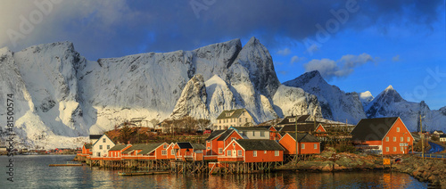 La pose en embrasure Taupe fishing villages in norway