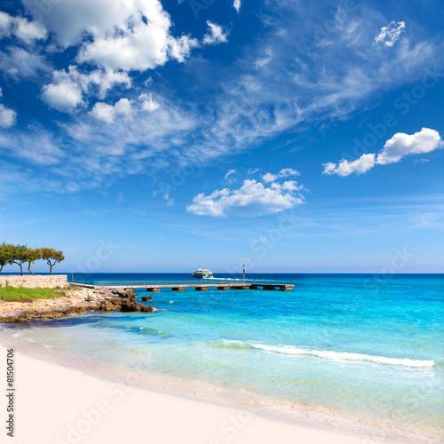 Poster Zanzibar Majorca Cala Millor beach Son Servera Mallorca