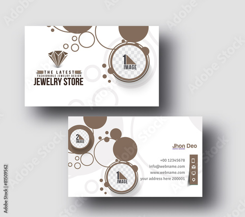 Jewelry Business Card Vector