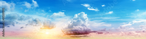 Deurstickers Blauw Art summer background