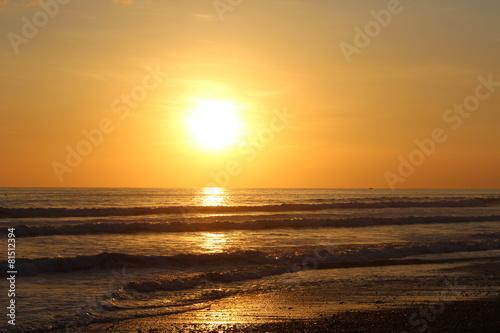 Printed kitchen splashbacks Purple Sonnenuntergang über dem Meer