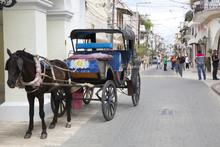 Street In Historic Quarters In...